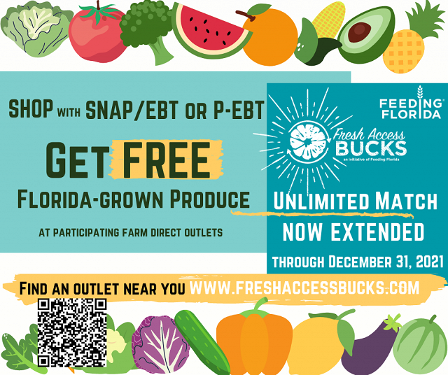 Double SNAP Florida Produce Unlimited Match